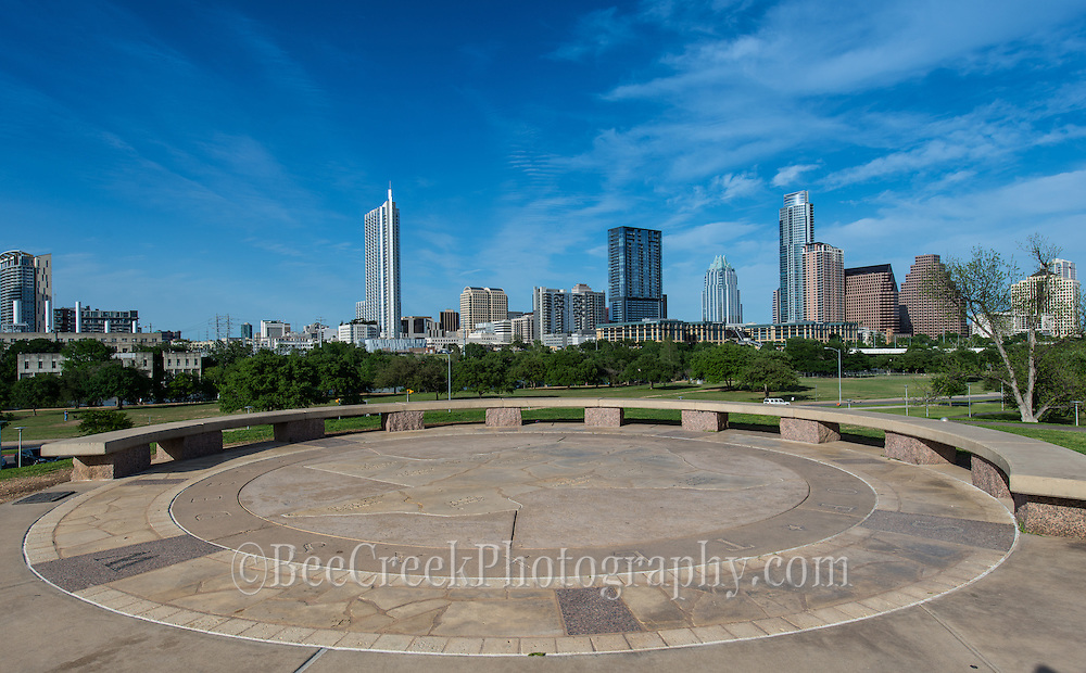 Austin's Doug Sahm observation area in Butler Park is a favorite hang out to catch the city skyine.