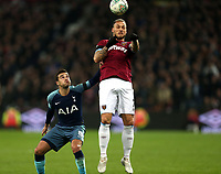 Marko Arnautovic of West Ham United and Harry Winks of Tottenham Hotspur during West Ham United vs Tottenham Hotspur, Caraboa Cup Football at The London Stadium on 31st October 2018