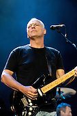 Pink Floyd - guitarist David Gilmour - performing live on stage with the reunited line-up at the Live 8 concert in Hyde Park, London oUK -  02 July 2005.   Photo credit: George Chin/IconicPix