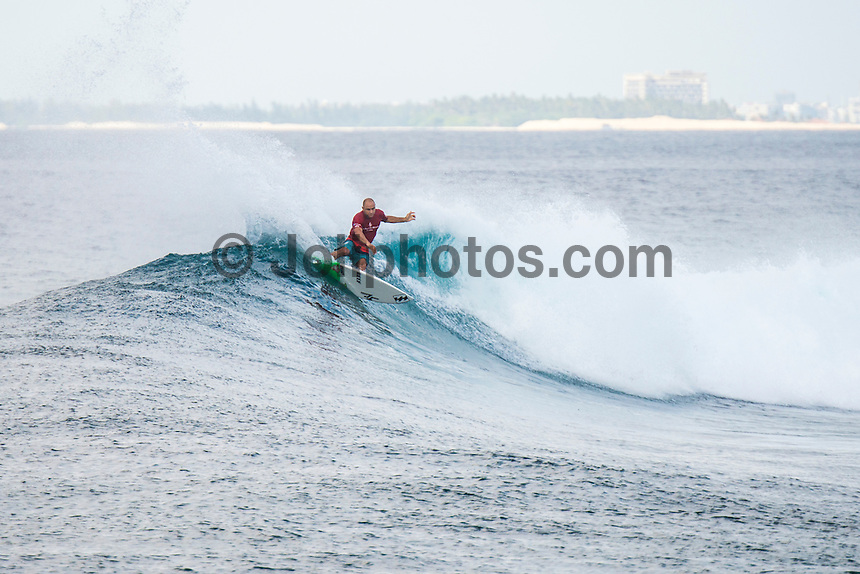 Four Seasons,Kuda Huraa, Maldives (Thursday, August 6, 2015) Today's winner Shane Dorian (HAW). The worlds 'most luxurious surfing event,' the Four Seasons Maldives Surfing Champions Trophy continued today  at the famed 'Sultans Point' with the Twin Fin Round.The swell was out of the South East  with waves in the 3'-4' range.  Dave Rastovich (AUS) and Shane Dorian (HAW) fought out the final.  Photo: joliphotos.com