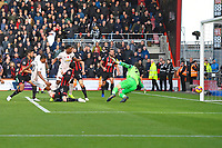 Marcus Rashford of Manchester United left scores the second goalpost Asmir Begovic of AFC Bournemouthh during AFC Bournemouth vs Manchester United, Premier League Football at the Vitality Stadium on 3rd November 2018