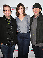 "11 July 2017 - West Hollywood, California - Cory Krueckeberg, Betsy Brandt, Tom Gustafson. ""Hello Again"" 2017 Outfest Los Angeles LGBT Film Festival Screening. Photo Credit: F. Sadou/AdMedia"