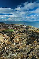 North Berwick and Fife from North Berwick Law, East Lothian Coastline