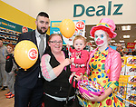 Official opening of new Dealz store in Enniscorthy. l-r: Rob Anderson (store manager), Ellen Sinnott, Harper Murphy and Donna O'Rourke. Photo: John Walsh/@Newsfile