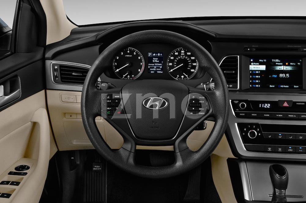 Car pictures of steering wheel view of a 2016 Hyundai Sonata Eco 4 Door Sedan Steering Wheel