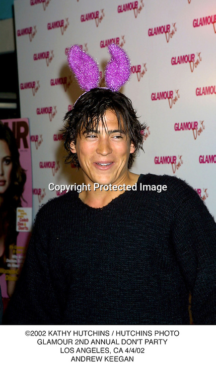 ©2002 KATHY HUTCHINS / HUTCHINS PHOTO.GLAMOUR 2ND ANNUAL DON'T PARTY.LOS ANGELES, CA 4/4/02.ANDREW KEEGAN