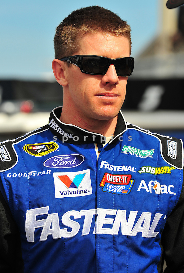 Sprint Cup Series driver Carl Edwards (99) during Speed Week, leading up to the 2013 Daytona 500.