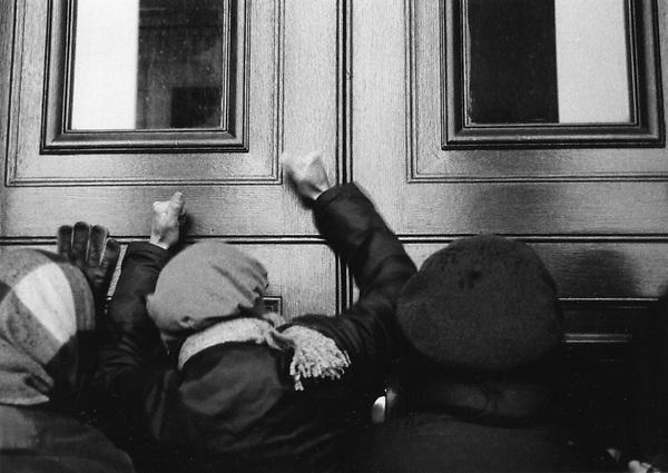 Women Beating on the Doors of the Pentagon, Women's Pentagon Action Washington D.C. 1980