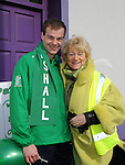 Special Olympian Edward Kennedy who was the Grand marshall of the Drogheda St. Patrick's day parade pictured with parade organizer Isobel San Roma. Photo: Colin Bell/pressphotos.ie