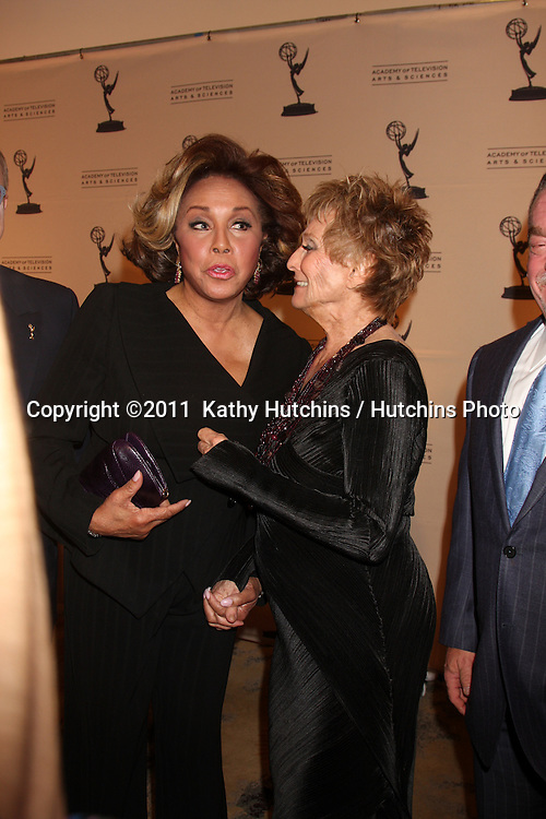LOS ANGELES - JAN 20:  Diahann Carroll; Cloris Leachman arrives at the Academy of Television Arts & Sciences' Hall of Fame Committe's 20th Annual Induction Gala at Beverly HIlls Hotel on January 20, 2011 in Beverly Hills, CA
