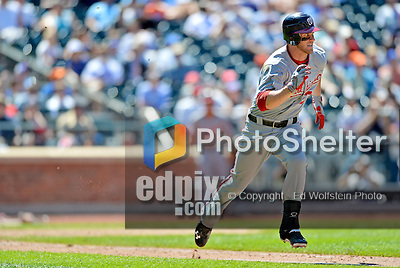 25 July 2012: Washington Nationals outfielder Bryce Harper in action against the New York Mets at Citi Field in Flushing, NY. The Nationals defeated the Mets 5-2 to sweep their 3-game series. Mandatory Credit: Ed Wolfstein Photo