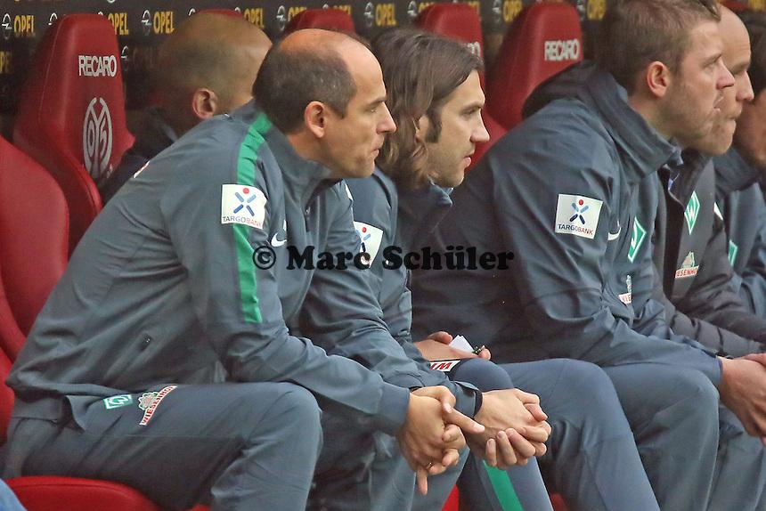 Trainer Viktor Skripnik und Co-Trainer Thorsten Frings (Werder) - 1. FSV Mainz 05 vs. SV Werder Bremenl, Coface Arena
