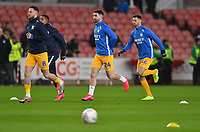 Preston North End's Sean Maguire warms up<br /> <br /> Photographer Dave Howarth/CameraSport<br /> <br /> The EFL Sky Bet Championship - Stoke City v Preston North End - Wednesday 12th February 2020 - bet365 Stadium - Stoke-on-Trent <br /> <br /> World Copyright © 2020 CameraSport. All rights reserved. 43 Linden Ave. Countesthorpe. Leicester. England. LE8 5PG - Tel: +44 (0) 116 277 4147 - admin@camerasport.com - www.camerasport.com