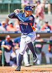 15 March 2016: Houston Astros outfielder George Springer in action during a Spring Training pre-season game against the Washington Nationals at Osceola County Stadium in Kissimmee, Florida. The Astros fell to the Nationals 6-4 in Grapefruit League play. Mandatory Credit: Ed Wolfstein Photo *** RAW (NEF) Image File Available ***
