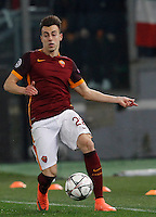 Calcio, andata degli ottavi di finale di Champions League: Roma vs Real Madrid. Roma, stadio Olimpico, 17 febbraio 2016.<br /> Roma's Stephan El Shaarawy in action during the first leg round of 16 Champions League football match between Roma and Real Madrid, at Rome's Olympic stadium, 17 February 2016.<br /> UPDATE IMAGES PRESS/Riccardo De Luca
