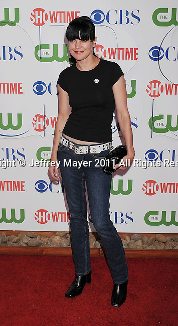 BEVERLY HILLS, CA - AUGUST 03: Pauley Perrette arrives at the TCA Party for CBS, The CW and Showtime held at The Pagoda on August 3, 2011 in Beverly Hills, California.