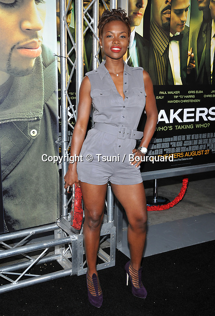 Natasha Ellie<br /> Takers Premiere at the Arclight Theatre In Los Angeles.
