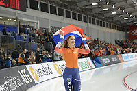 SPEEDSKATING: 15-02-2020, Utah Olympic Oval, ISU World Single Distances Speed Skating Championship, 1000m Ladies, Jutta Leerdam, World Champion, Nederlands record, 1:11,847, ©photo Martin de Jong