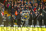 Killorglin Pipe Band at the Kerry County Senior Football Final at Fitzgerald Stadium on Sunday.