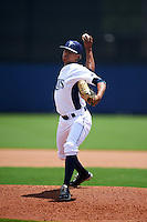 GCL Rays pitcher Junior Feliz (50) delivers a pitch during the second game of a doubleheader against the GCL Red Sox on August 4, 2015 at Charlotte Sports Park in Port Charlotte, Florida.  GCL Red Sox defeated the GCL Rays 2-1.  (Mike Janes/Four Seam Images)