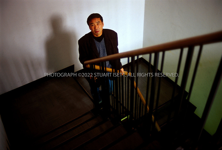 2/26/2002--Tokyo, Japan..Japanese writer Haruki Murakami...All photographs ©2003 Stuart Isett.All rights reserved.This image may not be reproduced without expressed written permission from Stuart Isett.