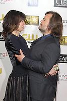 SANTA MONICA, CA - JANUARY 10: Tanya Haden and Jack Black at the 18th Annual Critics' Choice Movie Awards at Barker Hangar on January 10, 2013 in Santa Monica, California. Credit: mpi26/MediaPunch Inc.