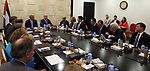 Palestinian Prime Minister, Rami hamadallah, meets with a delegation from the US Congress, in the West Bank city of Ramallah, on August 10, 2017. Photo by Prime Minister Office