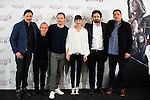 "Carlos Bardem, Javier Gutierrez, german actor Michael Fassbender, french actress Marion Cotillard, the director of the film Justin Kurzel and Hovik Keuchkerian during the presentation of the film ""Assassin's Creed"" in Madrid, Spain. December 07, 2016. (ALTERPHOTOS/BorjaB.Hojas)"