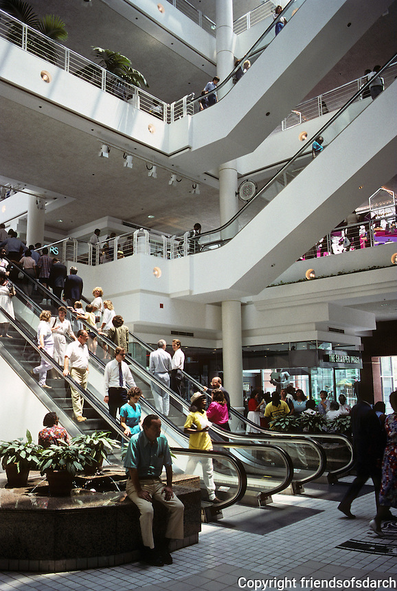 St. Louis: St. Louis Centre--Air-conditioned downtown Mall connected by skywalks to Famous-Barr, parking and office buildings. Photo '88.