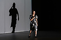"""EMBARGOED UNTIL 23:30 TUES 1ST OCTOBER, 2019. English National Opera presents """"Orpheus & Eurydice"""", by Christoph Gluck,  with libretto by Pierre-Louis Moline, version by Hector Berlioz, at the London Coliseum. Directed and choreographed by Wayne McGregor, with lighting design by Jon Clark, set design by Lizzie Clachan, costume design by Louise Gray, and video design by Ben Cullen Williams. Picture shows: Soraya Mafi (Love)"""