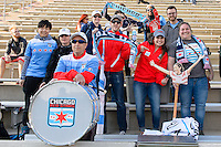 Bridgeview, IL, USA - Saturday, April 23, 2016: Chicago fans before a regular season National Women's Soccer League match between the Chicago Red Stars and the Western New York Flash at Toyota Park. Chicago won 1-0.