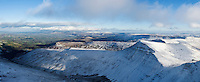 Cribyn with winter snow, Brecon Beacons national park, Wales