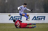 Mauro Zarate of QPR rides a tackle form Kingsley Bryce of Chicago Fire