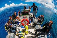 Scuba diving trip, Jinek Bay, Lifou (island), Loyalty Islands, New Caledonia