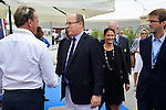 Prince Albert of Monaco was present at the inauguration of the Monaco Yacht Show.<br /> He visit differents yachts with Michel Roger the minister ans the directrice of the yacht show.