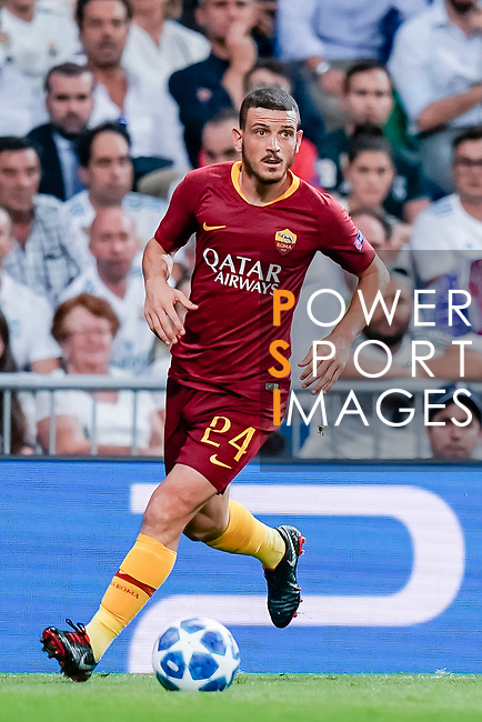 Alessandro Florenzi of Roma in action during the UEFA Champions League 2018-19 match between Real Madrid and Roma at Estadio Santiago Bernabeu on September 19 2018 in Madrid, Spain. Photo by Diego Souto / Power Sport Images