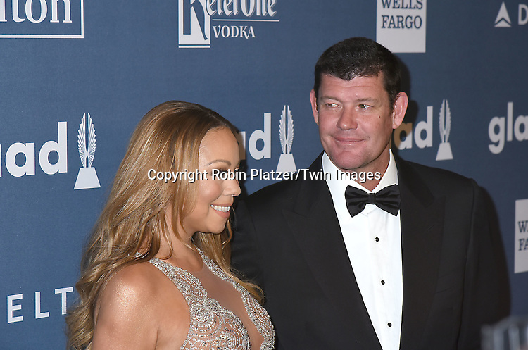 Mariah Carey and James Packer attend the 27th Annual GLAAD Media Awards on May 14, 2016 at the Waldorf Astoria Hotel in New York City, New York, USA.<br /> <br /> photo by Robin Platzer/Twin Images<br />  <br /> phone number 212-935-0770