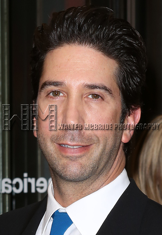 David Schwimmer attending the Roundabout Theatre Company's Broadway Production of 'The Big Knife' at the American Airlines Theatre in New York City on 4/16/2013...