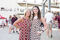 Game Day: MSU Football versus South Carolina. Mother Teresa Proffitt with daughter Brittany Long.<br />  (photo by Megan Bean / &copy; Mississippi State University)