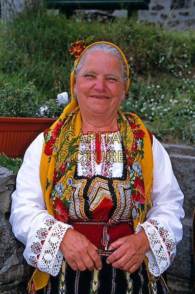 Member of Dobarski Babi Folk Group, Dobarsko, Bulgaria