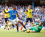 07.07.2019: Rangers v Oxford Utd: Joe Aribo with an effort saved by Simon Eastwood