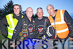 Enjoying their annual rally were members of the Magpies Motor Cycle Club pictured here last Saturday night in The Railway Bar, Abbeyfeale, l-r: Maurice McAuliffe(Knocknagoshal) and Paddy Riordan, Martin Prendiville and Michael O'Reagan(Listowel)