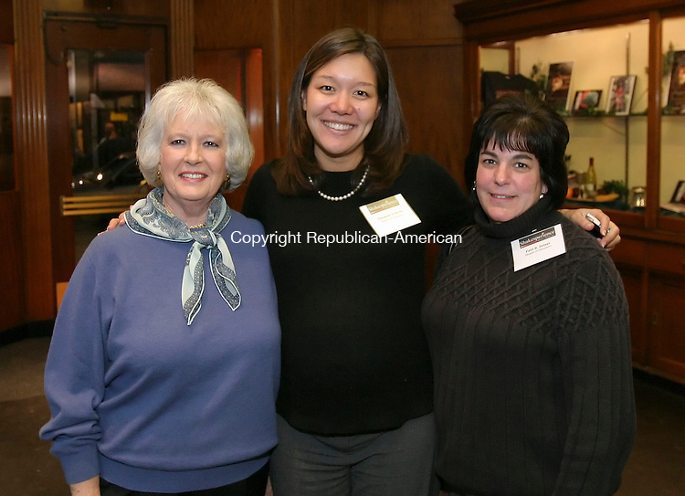 WATERBURY, CT,  03 JANUARY 2006, 010307BZ05-  From left-  Nancy Green, of Essex; Elizabeth Wilhelm, of Boston, MA, on the board of directors of Shakesperience, Inc.; and Patti R. Delage, of Watertown, on the board of directors of Shakesperience, Inc.;<br /> during an open house at the new Shakesperience Productions, Inc. facility on Bank Street Wednesday night. <br /> Jamison C. Bazinet Republican-American