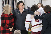 ?, Courtney Kennedy (BC - Associate Head Coach), Kaliya Johnson (BC - 6), Katie Crowley (BC - Head Coach), Kelli Johnson - The Boston College Eagles defeated the visiting Providence College Friars 7-1 on Friday, February 19, 2016, at Kelley Rink in Conte Forum in Boston, Massachusetts.