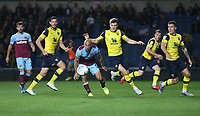 West Ham United's Pablo Zabaleta is surrounded in the Oxford penalty area<br /> <br /> Photographer Rob Newell/CameraSport<br /> <br /> The Carabao Cup Third Round - Oxford United v West Ham United - Wednesday 25th September 2019 - Kassam Stadium - Oxford<br />  <br /> World Copyright © 2019 CameraSport. All rights reserved. 43 Linden Ave. Countesthorpe. Leicester. England. LE8 5PG - Tel: +44 (0) 116 277 4147 - admin@camerasport.com - www.camerasport.com