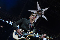 CARHAIX-PLOUGUER, FRANCE - JULY 14, 2016: British guitarist Jamie Hince of indie rock band The Kills performs at the Festival des Vieilles Charrues, Carhaix-Plouguer, France<br /> Picture: Kristina Afanasyeva / Featureflash