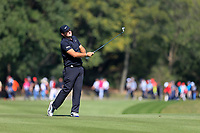 Patrick Reed (USA) on the 2nd fairway during the final round at the WGC HSBC Champions 2018, Sheshan Golf CLub, Shanghai, China. 28/10/2018.<br /> Picture Fran Caffrey / Golffile.ie<br /> <br /> All photo usage must carry mandatory copyright credit (&copy; Golffile | Fran Caffrey)