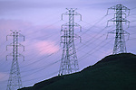 High tension power lines in the Briones Region, Contra Costa County, California