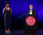 Abby Jean Baptiste and Jane Cox on stage during the 9th Annual LILLY Awards at the Minetta Lane Theatre on May 21,2018 in New York City.