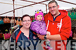 Julie Creedon and Paul O'Sullivan and their daughter, Fiona at August 15th fair day in Kenmare.